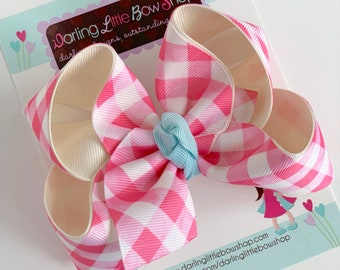 "Hairbows to match Matilda Jane Brilliant Daydream - Carefree Summer - choose 4-5"" or 6"" bow"