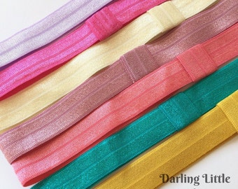 Satin Elastic Headband -- colors to match our m2m Matilda Jane sets -- mustard, coral rose, teal, etc
