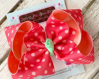 "Hairbows to match Matilda Jane Brilliant Daydream - Think Pink - choose 4-5"" or 6"" bow"