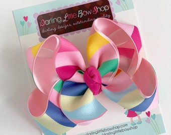 """Hairbows to match Matilda Jane Brilliant Daydream - Happy Thoughts - choose 4-5"""" or 6"""" bow"""