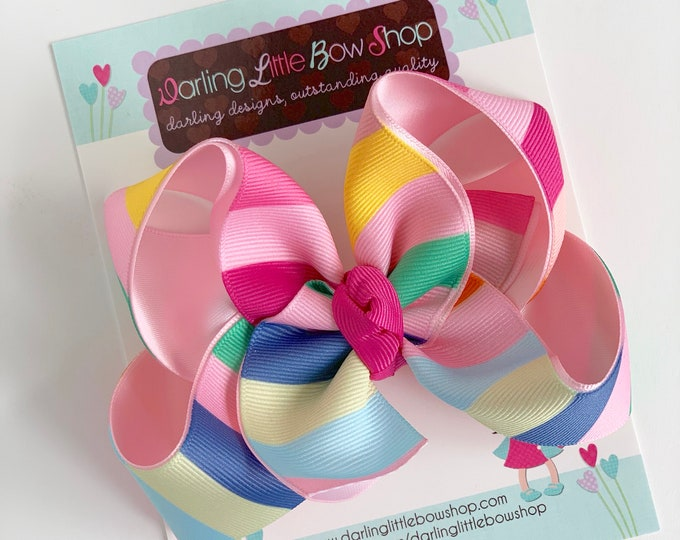 "Hairbows to match Matilda Jane Brilliant Daydream - Happy Thoughts - choose 4-5"" or 6"" bow"