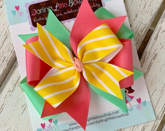 "Hairbow to match Matilda Jane Brilliant Daydream - My Only Sunshine - choose 3"", 4-5"" or 6"" bow"