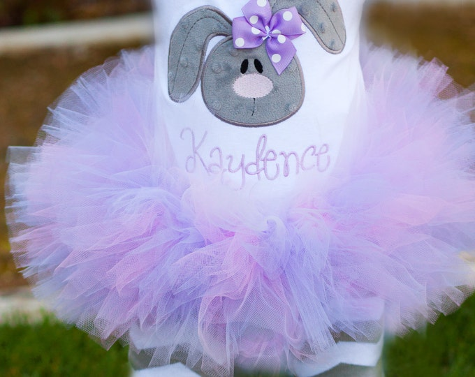 """Pastel Easter Baby Girl Tutu  -- Lavender and Pink -- """"First Easter"""" -- Made To Match Easter Bunny or Lamb Oufits -- Tutu Only"""