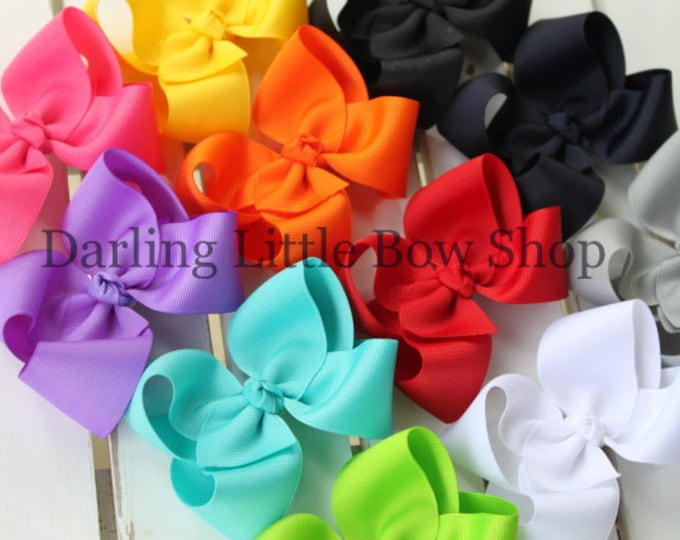 """Basic Bow -- CHOOSE your color -- basic 3"""", 4"""" , 5"""" or 6"""" bow with many color choices"""
