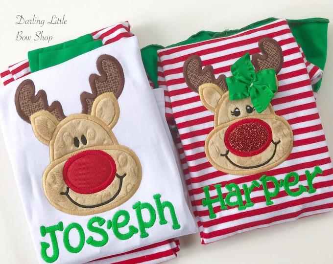 LIMITED Christmas Pajamas - Family pajamas - Santa, Reindeer Gingerbread, Elf, Manger applique - Adult, infant childrens sizes