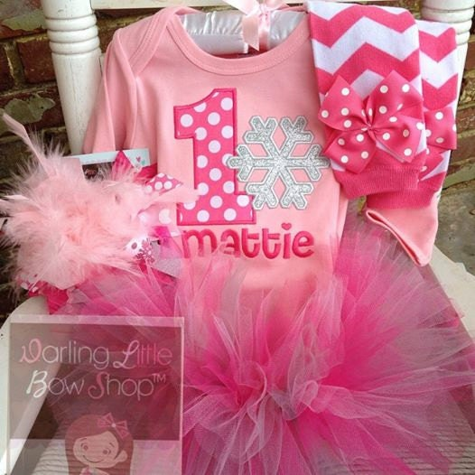 Baby Girl First Birthday Outfit Winter Onederland Long Etsy
