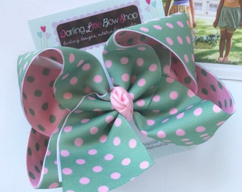 """Hairbows to match Matilda Jane Joanna Gaines Release - Sage Summer - larger 6"""" bow"""