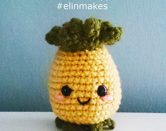 Kawaii Pineapple  : Amigurumi Pattern in PDF format