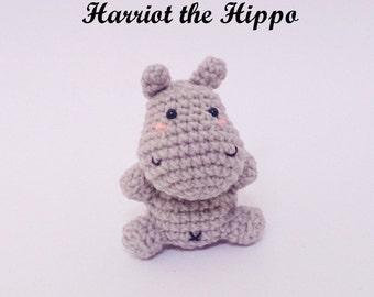 Harriot the Hippo  : Amigurumi Pattern in PDF format