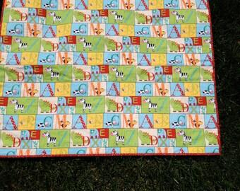 Animal ABC Baby Quilt