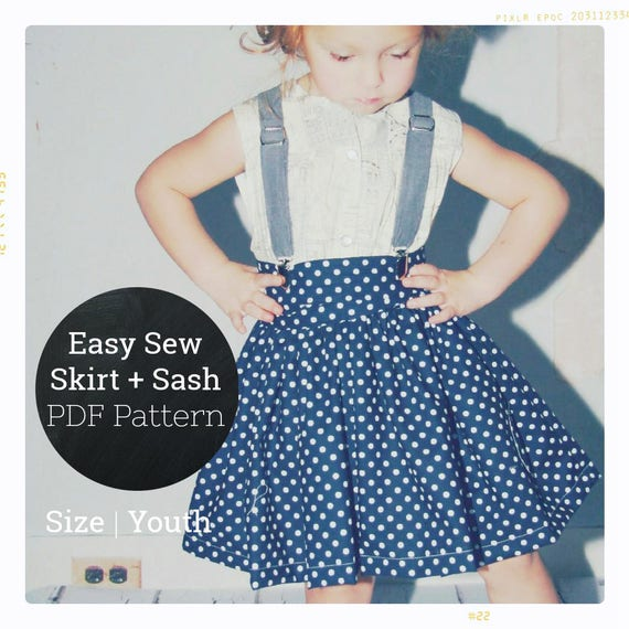 PDF Skirt Pattern Girls Twirl Skirt Pattern Kids Clothes Easy Sewing ...