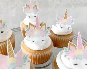 Unicorn Cake Topper, Unicorn Party, Unicorn Cupcakes, Unicorn Clipart, Unicorn Decorations, Unicorn Birthday, Unicorn Party Favors, Unicorn