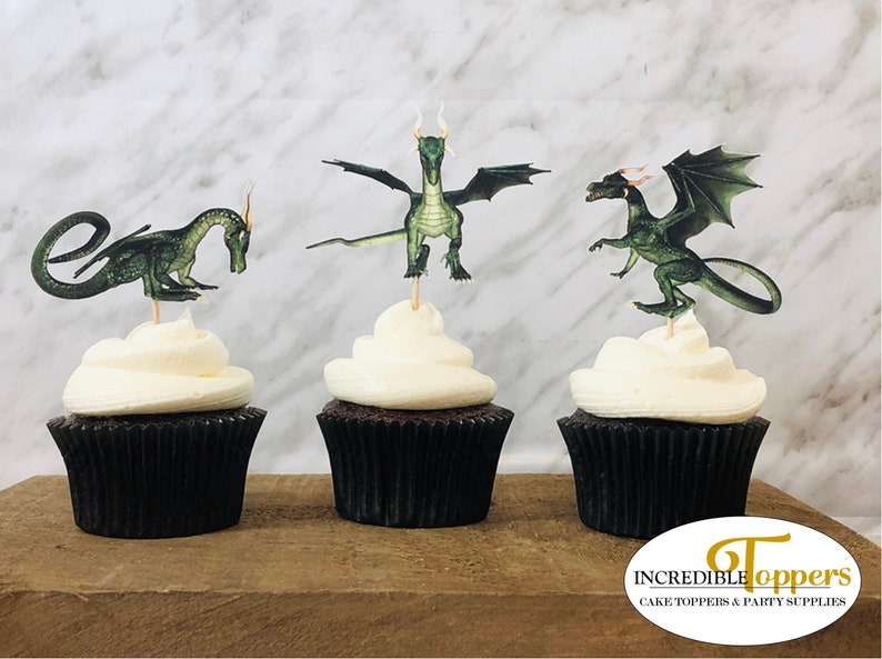 Dragon Cupcake Toppers 12 Ct Birthday Party Decorations