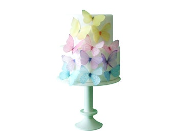 Birthday Cupcake Topper | Wedding Cake Topper | Edible Butterflies | Pastel Baby Shower Cupcake Decorations | Spring Wedding Decorations
