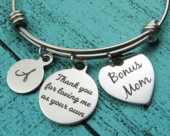 Special Mom Gift Bonus Mom Bracelet Step Mom Wedding Gift Etsy