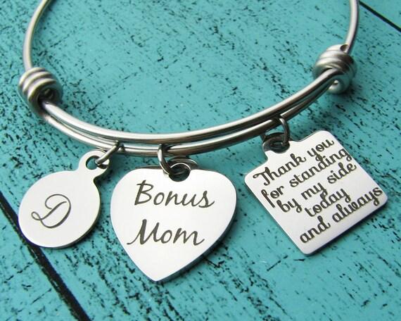 Wedding Gift For Dad And Stepmom: Stepmom Wedding Gift Stepmom Bracelet Bonus Mom Stepmother