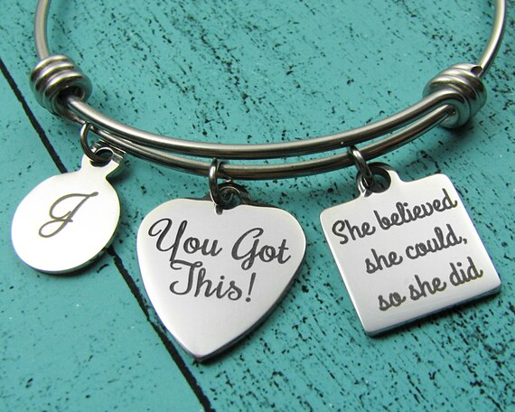 You Got This Bracelet Inspirational Jewelry Cancer Survivor Etsy