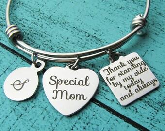 stepmom of the bride gift bracelet, stepmother gift, foster mom gift, step mom wedding gift, stepmom of the groom gift, special mom bracelet