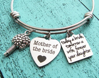 mother of the bride gift, wedding gift for mom, today a bride tomorrow a wife forever your daughter, bridal gift for mom from daughter