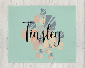 Name Abstract Sunshine Throw Blanket, Girls Teen Women Birthday Gift, Christmas Gift, Soft and Cozy Blanket, For Sofa Couch, Personalized