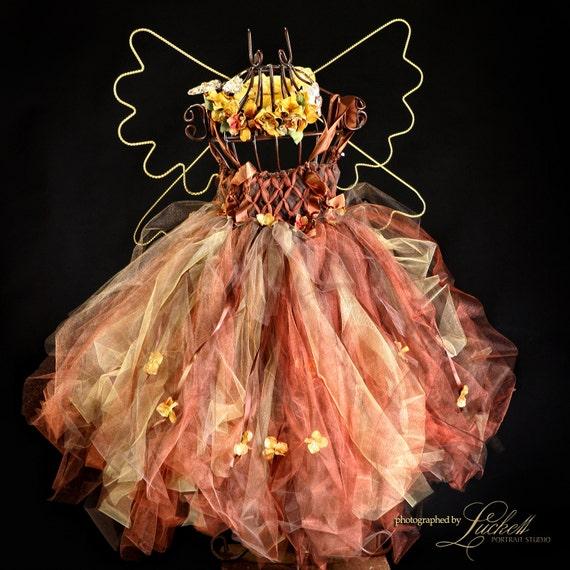 tulle dress Birthday Fall Enchanted FairyWare Fairy Dress Wedding Halloween Photography Dress Just for Fun