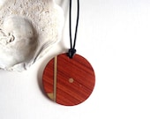 Wood necklace /Geometric necklace /reclaimed wood necklace/ wood and brass necklace/statement necklace