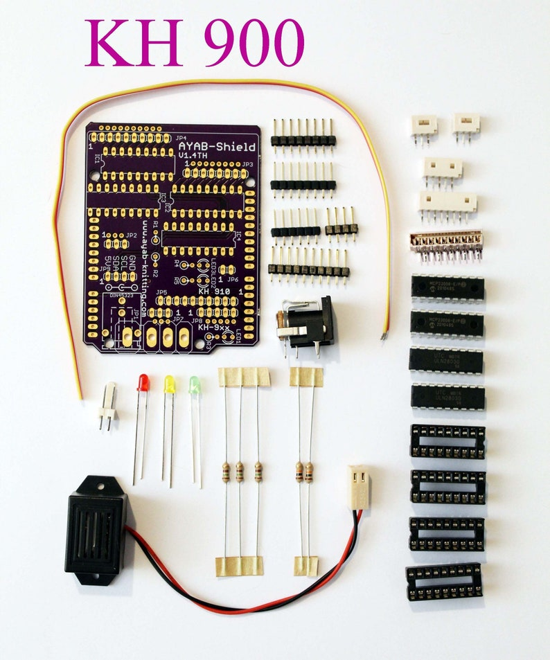 KH 900965 AYAB Shield Kit v1.4 Th with power connector  image 0