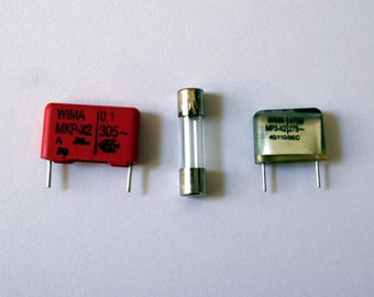 Capacitors and Fuse for Brother Knittingmachines KH 910+kh930+kh940+kh950