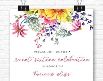 Floral Sunflower Invitation