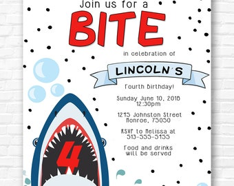 Shark Bite Invitation