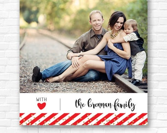 Striped New Year Holiday Card