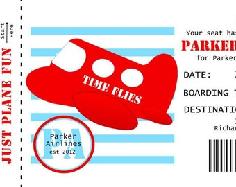Time Flies invitation