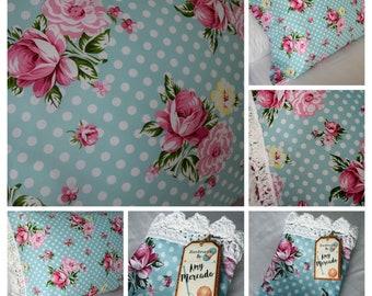NEW Handmade Shabby Chic Rose Crochet Standard or King Pillowcase, Mother's Day Gift, Home Decor, Bedding Made to Order