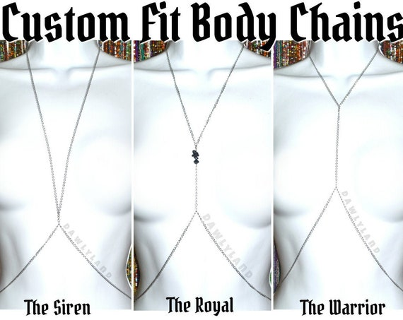 Stainless Steel Body Chains ~ Custom Fit in 3 Styles