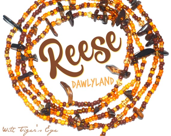 Reese ~ Custom Fit Waist Beads with Tiger's Eye