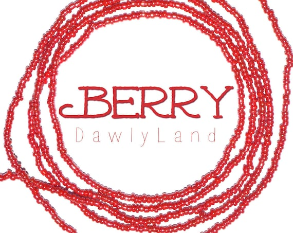 Berry ~ Tiny Bead Red Waist Beads ~ Made to Order
