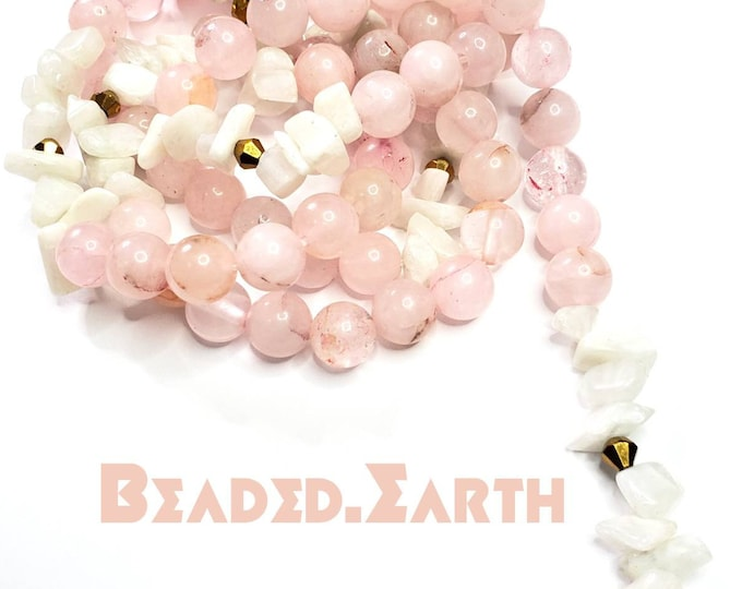 Patience • Rose Quartz Moonstone • Waist Beads & More