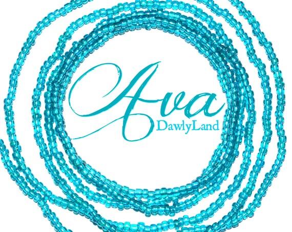 Ava ~ Turquosie Waist Beads ~ Made to Order