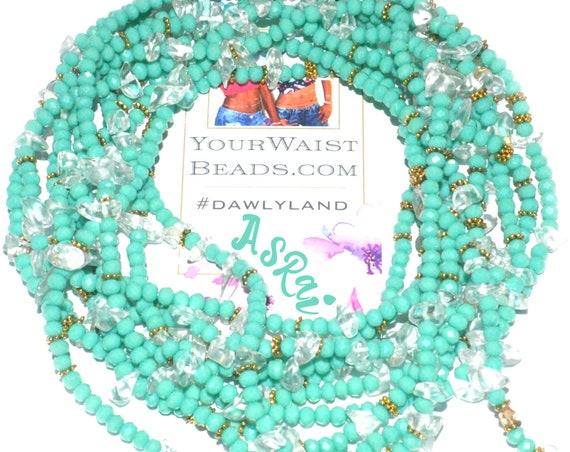 Crystal & Gemstone WaistBeads ~ Asrai with Clear Quartz ~Bracelet Anklet or #Beadkini