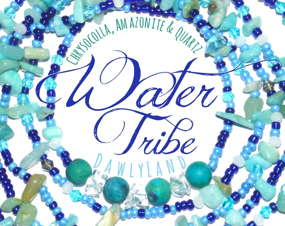 Water Tribe ~ Deluxe Waist Beads with Mixed Gemstones