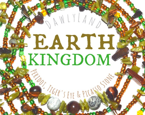 Earth Kingdom ~ Deluxe Waist Beads with Mixed Gemstones