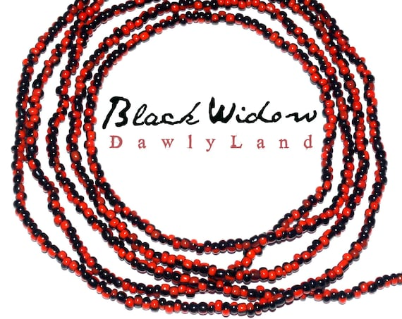 Black Widow ~ Custom Fit Waist Beads & Mega Wraps