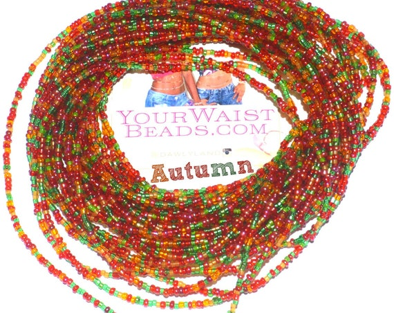 Autumn ~ Custom Fit Waist Beads