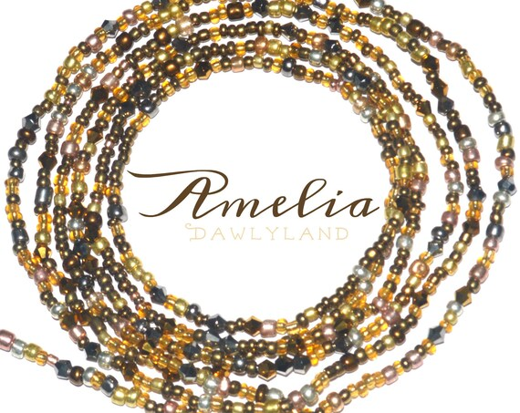 Amelia ~ Custom Fit Crystal Waist Beads & Mega Wraps