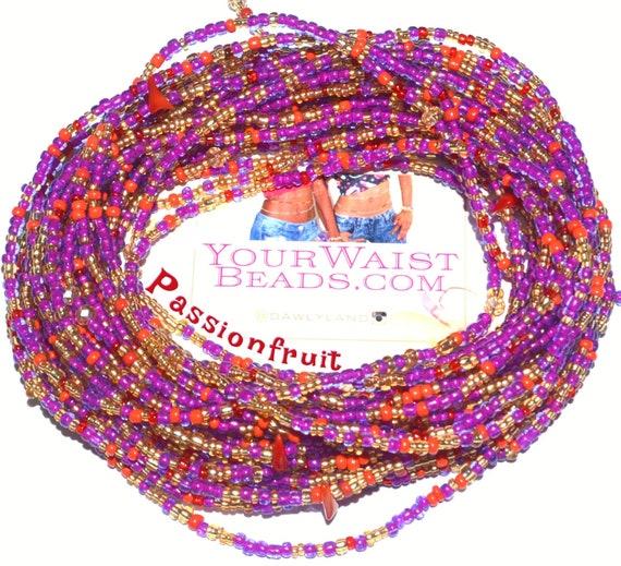 Waist Beads & More ~ Passionfruit ~ YourWaistBeads.com