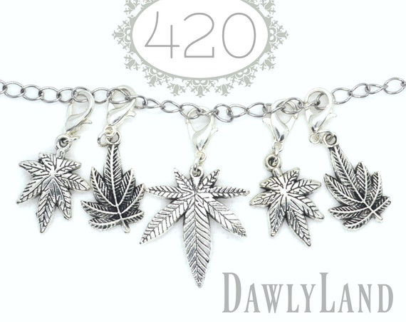 420 ClipCharms Set ~ Charm Bracelet or Waist Beads add on, Lock Jewelry & More