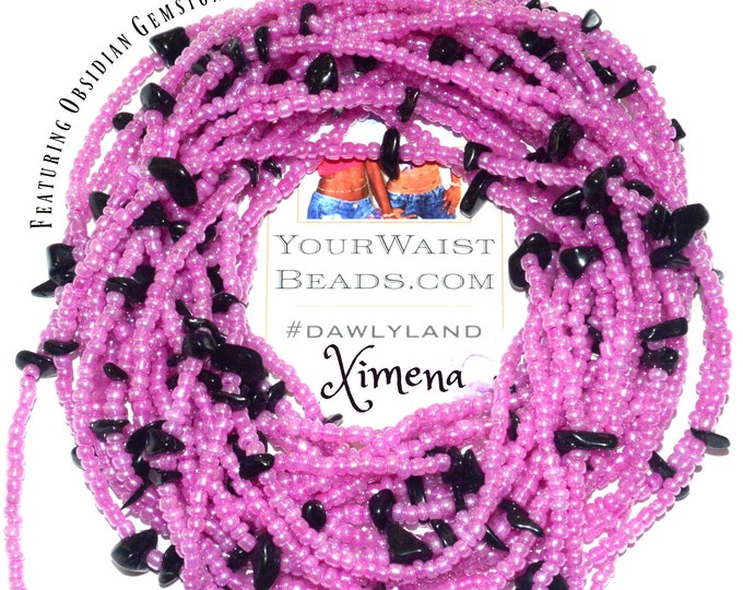 Ximena ~ Gemstone Waist Beads & More ~ with Black Obsidian