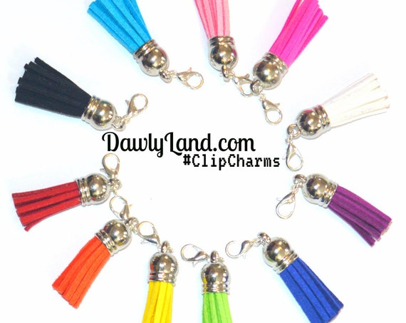 Tassel ClipCharms + Earring Hooks! Clip to Anything! Waist Beads Hair Jewelry & More