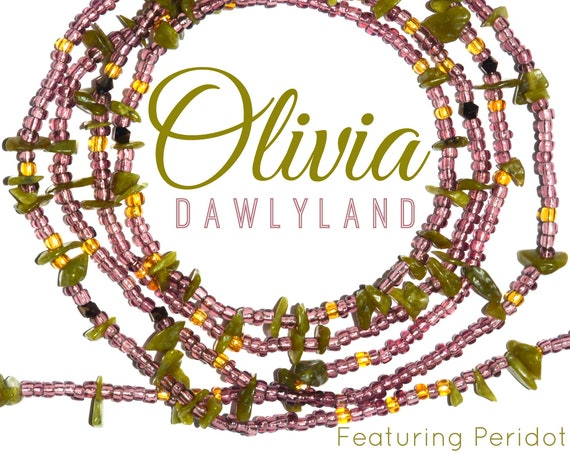 Olivia ~ Custom Fit Peridot Waist Beads or Mega Wraps