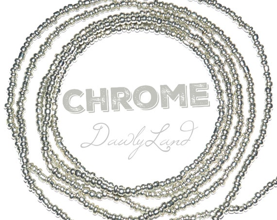 Chrome ~ Custom Fit Waist Beads & Mega Wraps